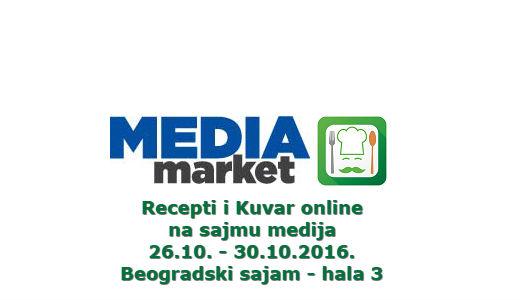 Portal Recepti i Kuvar online na Sajmu medija od 26.10. – 30.10.2016.