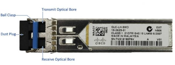 Cisco GLC-LH-SMD, 1000BASE-LX/LH SFP transceiver moduleMMF/SMF, 1310nm, DOM