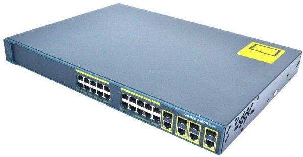 Cisco WS-C2960G-24TC-L, Cat2960 24 10/100/1000.4 T/SFP LAN Base Image