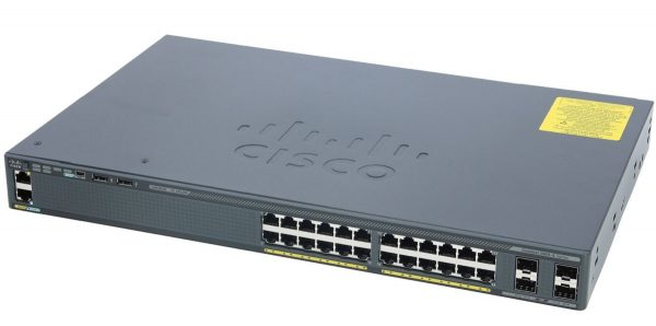 Cisco WS-2960X-24TS-L, Catalyst 2960-X 24 GigE, 4 x 1G SFP, LAN Base
