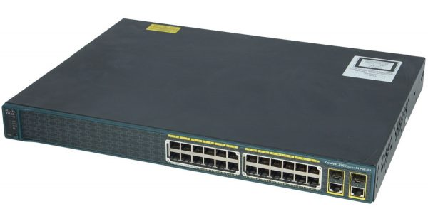Cisco WS-C2960-24PC-S, Catalyst 2960 24 10/100 PoE + 2 T/SFP LAN Lite Image