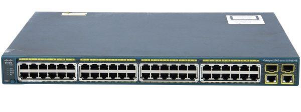 Cisco WS-C2960-48PST-S, Catalyst 2960 48 10/100 PoE + 2 1000BT +2 SFP LAN Lite Image