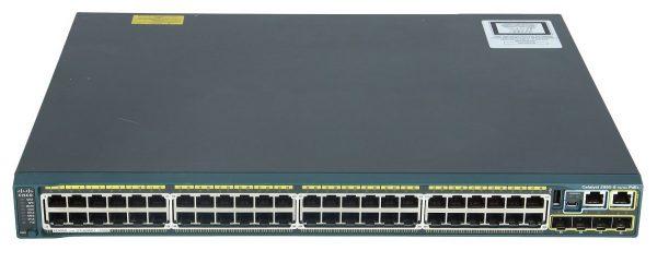Cisco WS-C2960S-48FPD-L, Catalyst 2960S 48 GigE PoE 740W, 2 x 10G SFP+ LAN Base