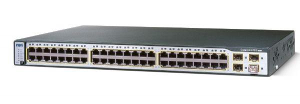 Cisco WS-C3750G-48TS-S, Catalyst 3750 48 10/100/1000T + 4 SFP + IPB Image
