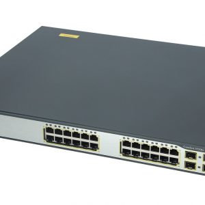 Cisco WS-C3750G-24PS-S, Catalyst 3750 24 10/100/1000T PoE + 4 SFP Standard Image
