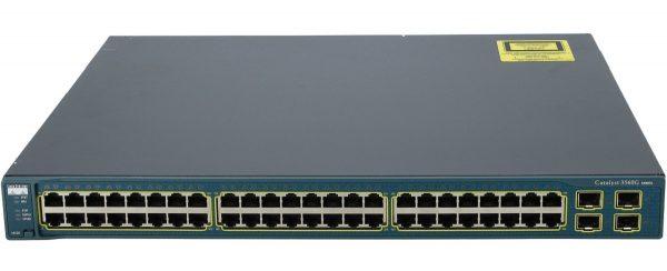 Cisco WS-C3560G-48TS-S, Catalyst 3560 48 10/100/1000T + 4 SFP + IPB Image