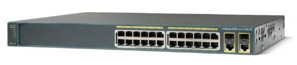 Cisco WS-C2960-24PC-L, Catalyst 2960 24 10/100 PoE + 2 T/SFP LAN Base Image