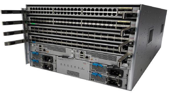 Cisco N9K-C9504-B3-E, Nexus 9504 chassis bundle with 1Sup, 3PS, 2SC, 4 FM-E, 3Fan