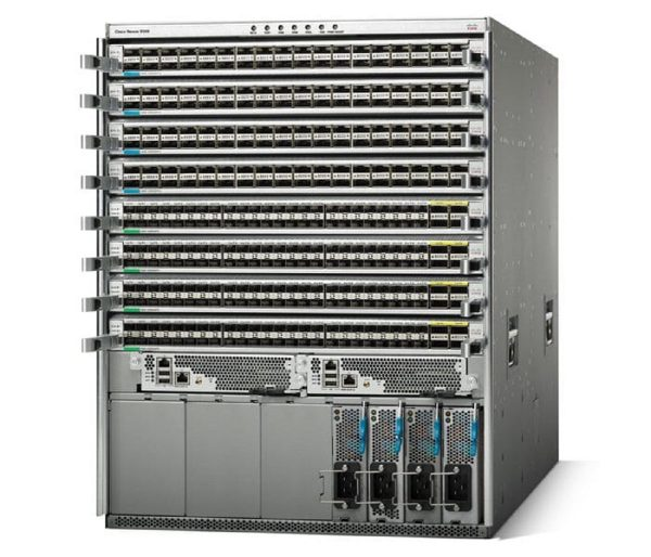 Cisco N9K-C9508, Nexus 9508 Chassis with 8 linecard slots