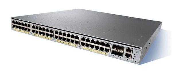 Cisco WS-C4948E, Catalyst 4948E. opt sw. 48-Port 10/100/1000+ 4 SFP+. no p/s