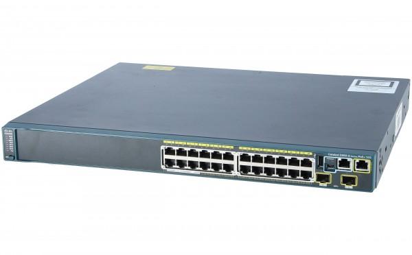 Cisco WS-C2960S-24PD-L, Catalyst 2960S 24 GigE PoE 370W, 2 x 10G SFP+ LAN Base