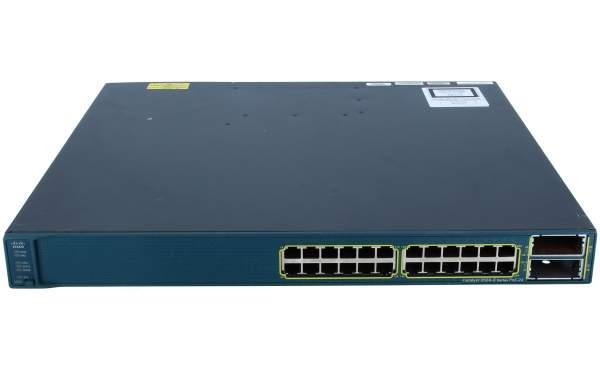 Cisco WS-C3560E-24PD-S, Catalyst 3560E 24 10/100/1000 PoE+2*10GE(X2),750W,IPB s/w