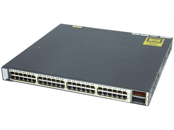 Cisco WS-C3750E-48TD-E, Catalyst 3750E 48 10/100/1000+2*10GE(X2),265W,IPS s/w