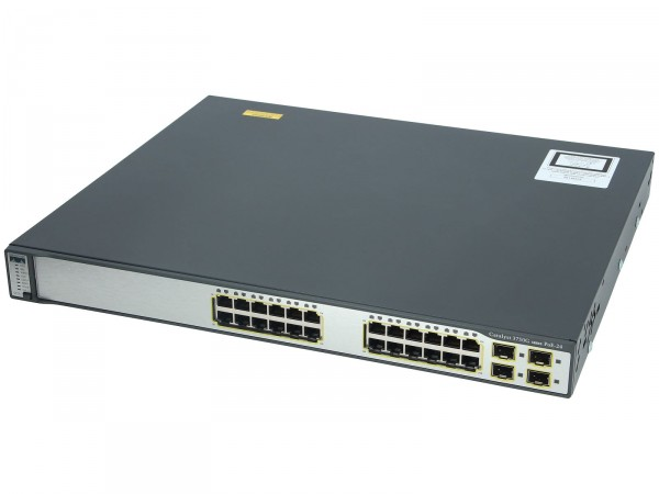 Cisco WS-C3750G-24PS-E, Catalyst Cat3750 24 10/100/1000T PoE + 4SFP Enh. Image.