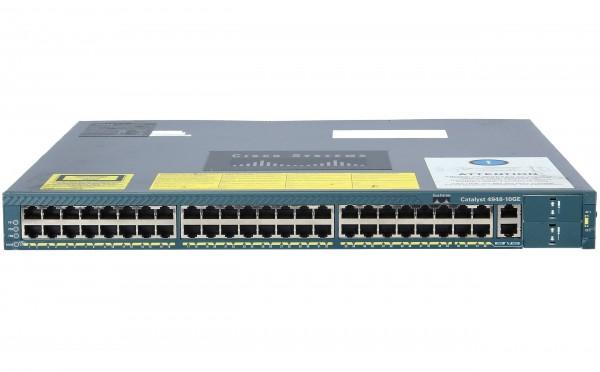 Cisco WS-C4948-10GE-S, Cat4948.IPB SW.48 10/100/1000+2 10GE(X2)AC PS